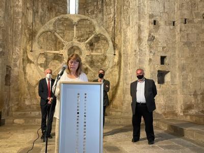 La consellera a la inauguració de l'exposició