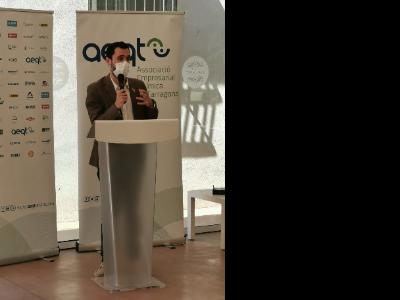 El conseller Torrent, durant la seva intervenció a la reunió amb l'AEQT