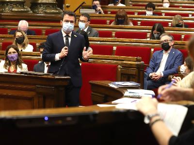 El president durant la sessió de control. Autor: Rubén Moreno