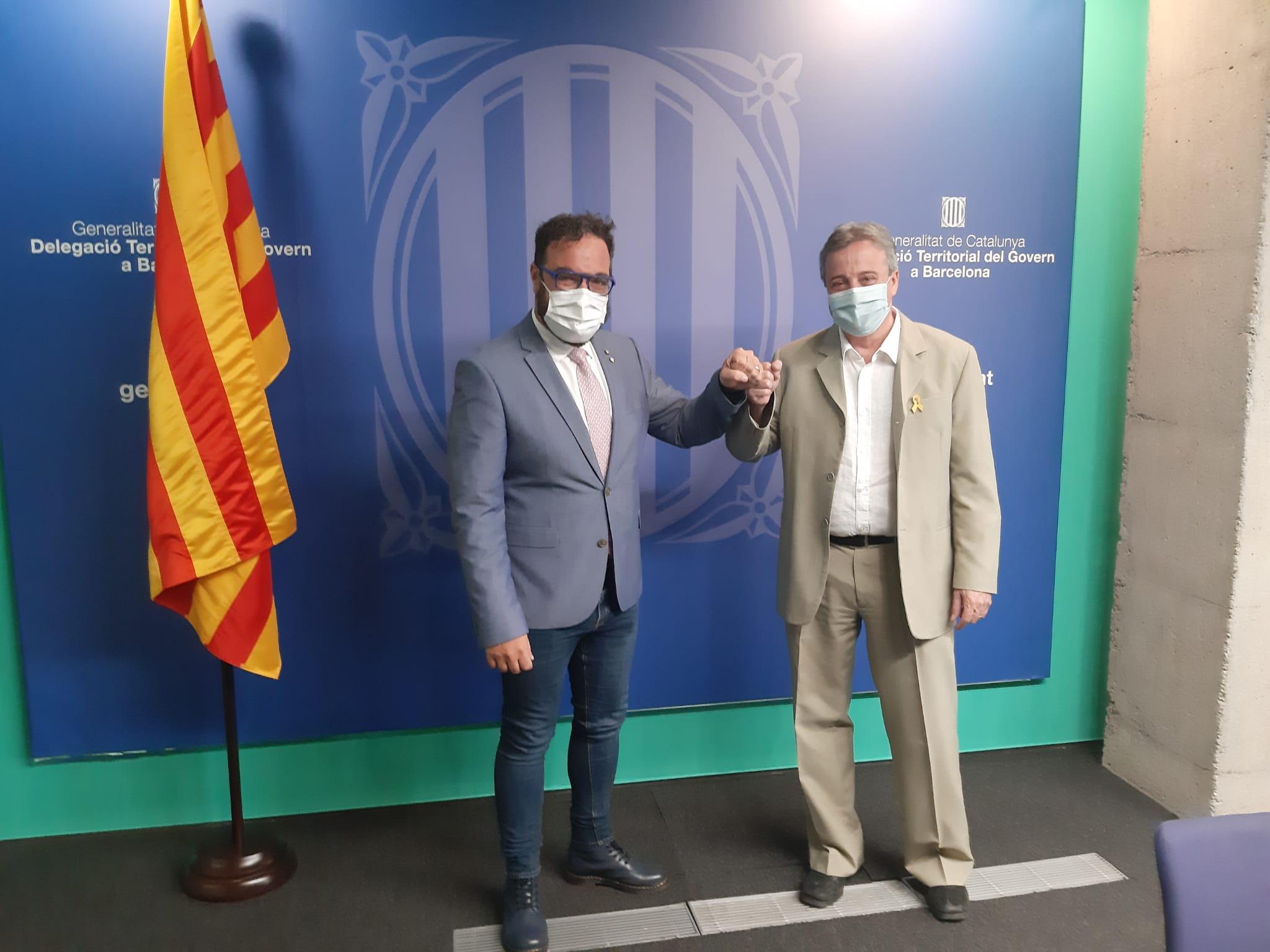 Acte de relleu amb el nou delegat territorial del Govern a Barcelona