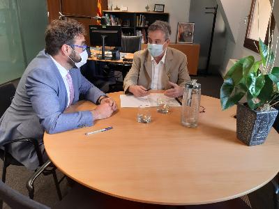 Reunió de traspàs amb el nou delegat territorial del Govern a Barcelona