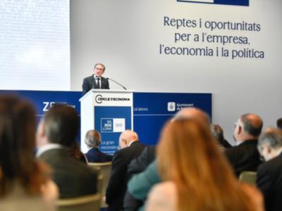 El conseller Giró durant la seva intervenció al Cercle d'Economia