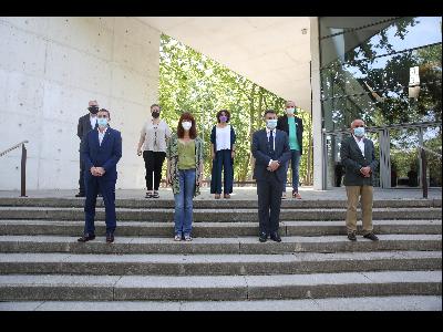 Foto de grup de la presetnació de l'Area 5G Girona
