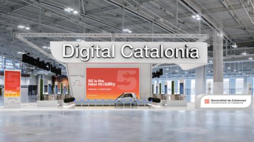 Estand del Govern de Catalunya al MWC 2021
