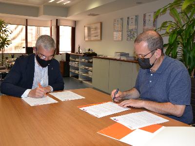 Pau de Solà Morales, president d'ArquinFAD, i Albert Civit, director de l'INCASÒL.