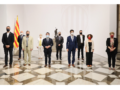 El president i el vicepresident amb els nous delegats. Autor: Jordi Bedmar