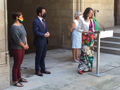 La consellera Tània Verge intervé a l'acte del Dia Internacional per l'Alliberament LGTBI+.