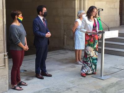La consellera Tània Verge intervé amb motiu del Dia Internacional per l'Alliberament LGTBI+.