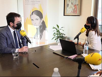 El president conversa amb Laura Rosel