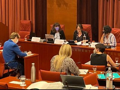 Compareixença de la consellera Verge a la Comissió d'Igualtat i Feminismes al Parlament.