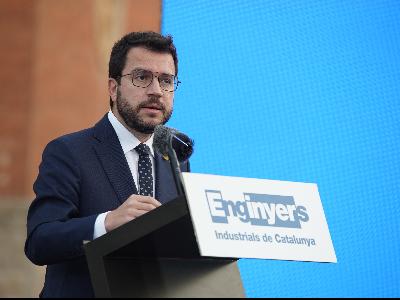 El president de la Generalitat durant la seva intervenció