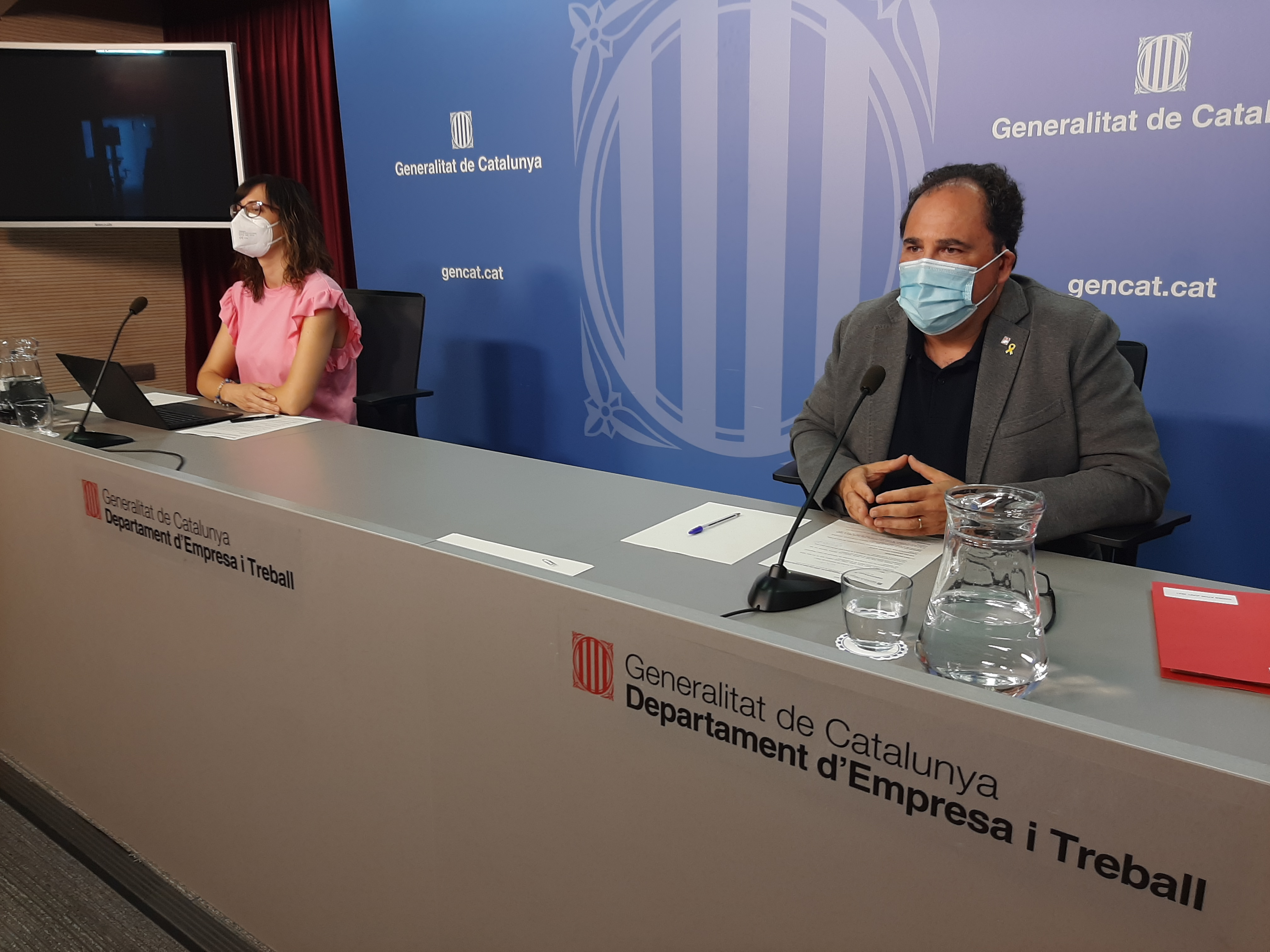 Enric Vinaixa, Secretari de Treball del Departament d'Empresa i Treball