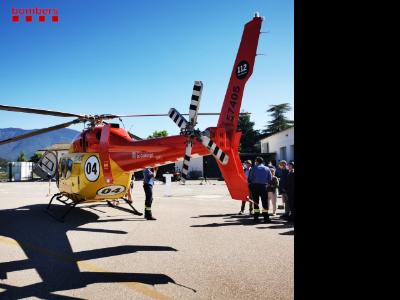 Presentació del nou helicòpter de rescat a La Seu d'Urgell