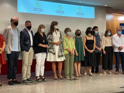 Les autoritats, premiats i organitzadors del premi Llibreter