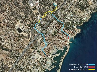 Mapa actuacions sanejament Ametlla de Mar.