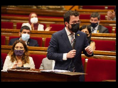 Sessió de control del Parlament