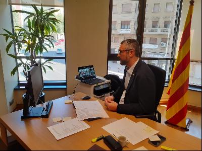 Bernat Solé a la reunió de la Comissió de Coordinació de la Campanya de la Fruita a Lleida