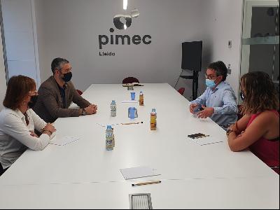 Bernat Solé visita Pimec Lleida