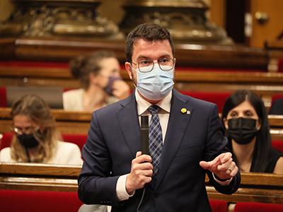 El president intervenint en el Ple. Autor: Jordi Bedmar