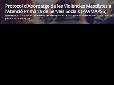 Protocol d'Abordatge de les Violències Masclistes a l'Atenció Primària de Serveis Socials