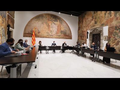 La Comissió s'ha reunit aquest matí al Palau de la Generalitat. Autor: Jordi Bedmar