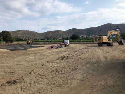 Terrenys on s'han iniciat els treballs, que tindran una durada d'11 mesos.