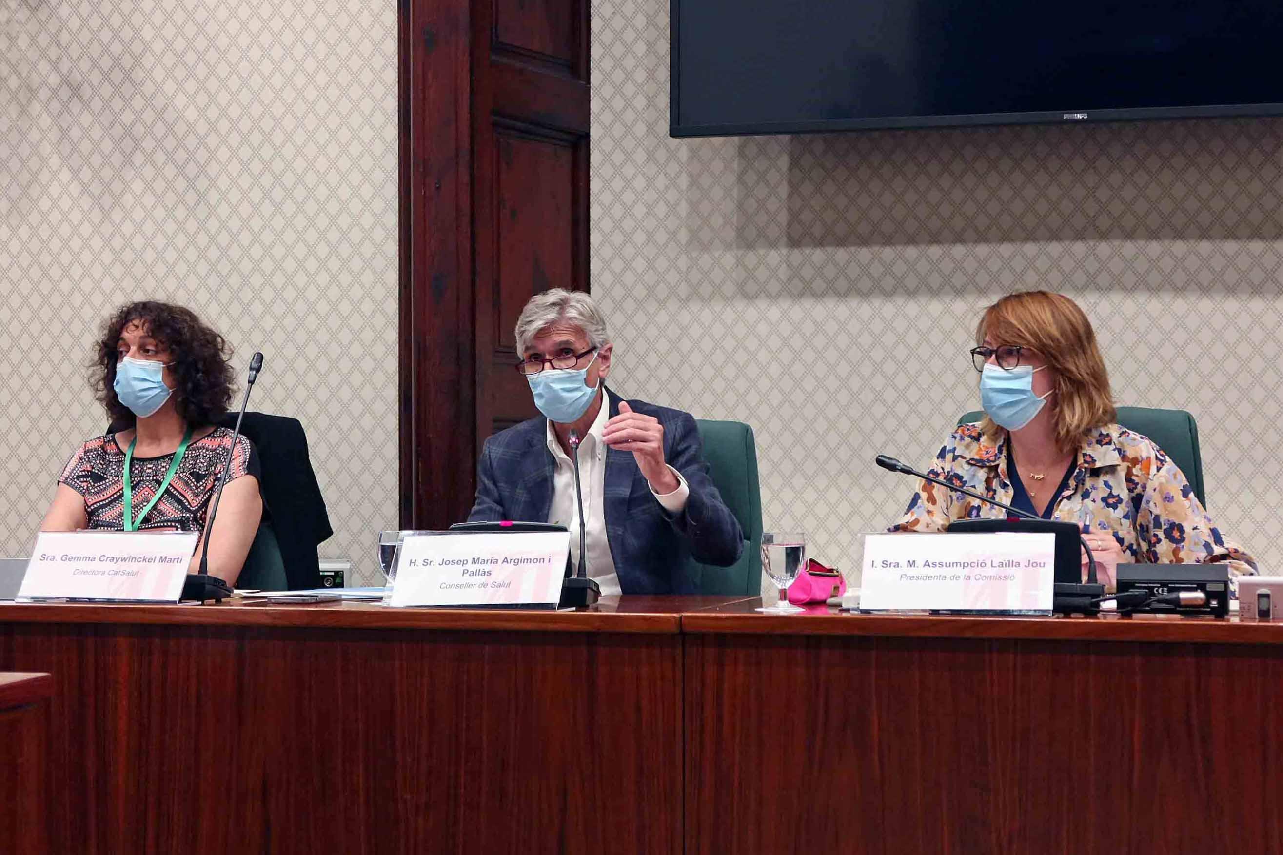 Imatge de la Comissió de Salut al Parlament de Catalunya