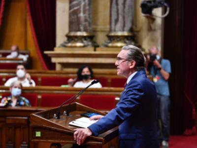 El conseller Giró a la Cambra catalana