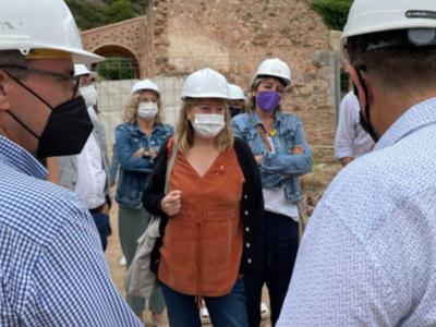 La consellera de Cultura, Natàlia Garriga, visita les obres del monument d'Escaladei