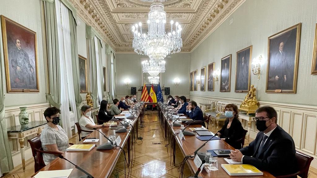 Moment de la reunió de la Comissió Bilateral a Madrid aquest dilluns.