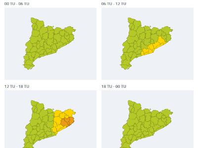 mapes pluges dimecres