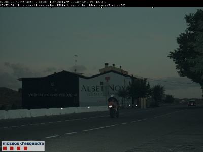 Motocicleta circulant a 150km/h en un tram limitat a 50