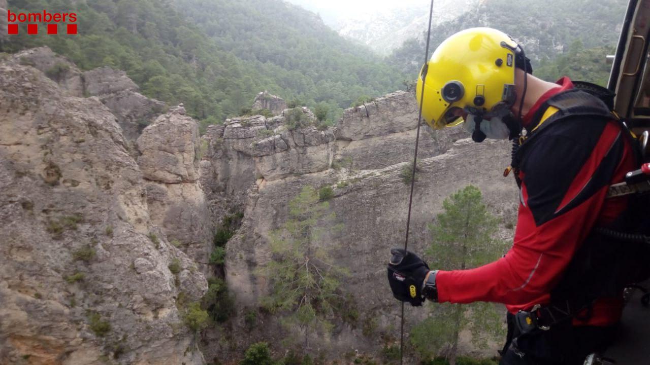 Imatge d'un rescat efectuat avui a Tortosa.