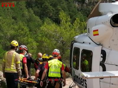 Imatge d'un rescat efectuat avui a La Febró.