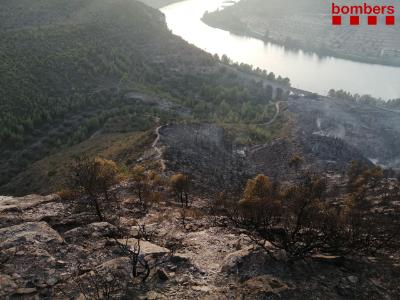 Imatge de l'incendi de La Pobla de Massaluca