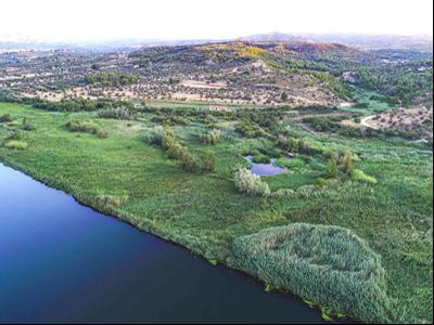 Vista aèria de la reserva natural de Sebes.