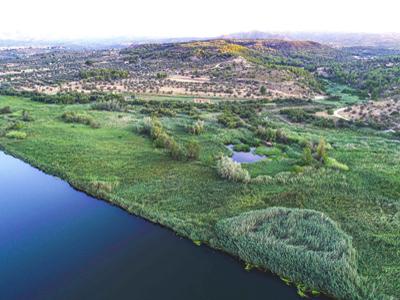 Vista aèria reserva natural de Sebes.