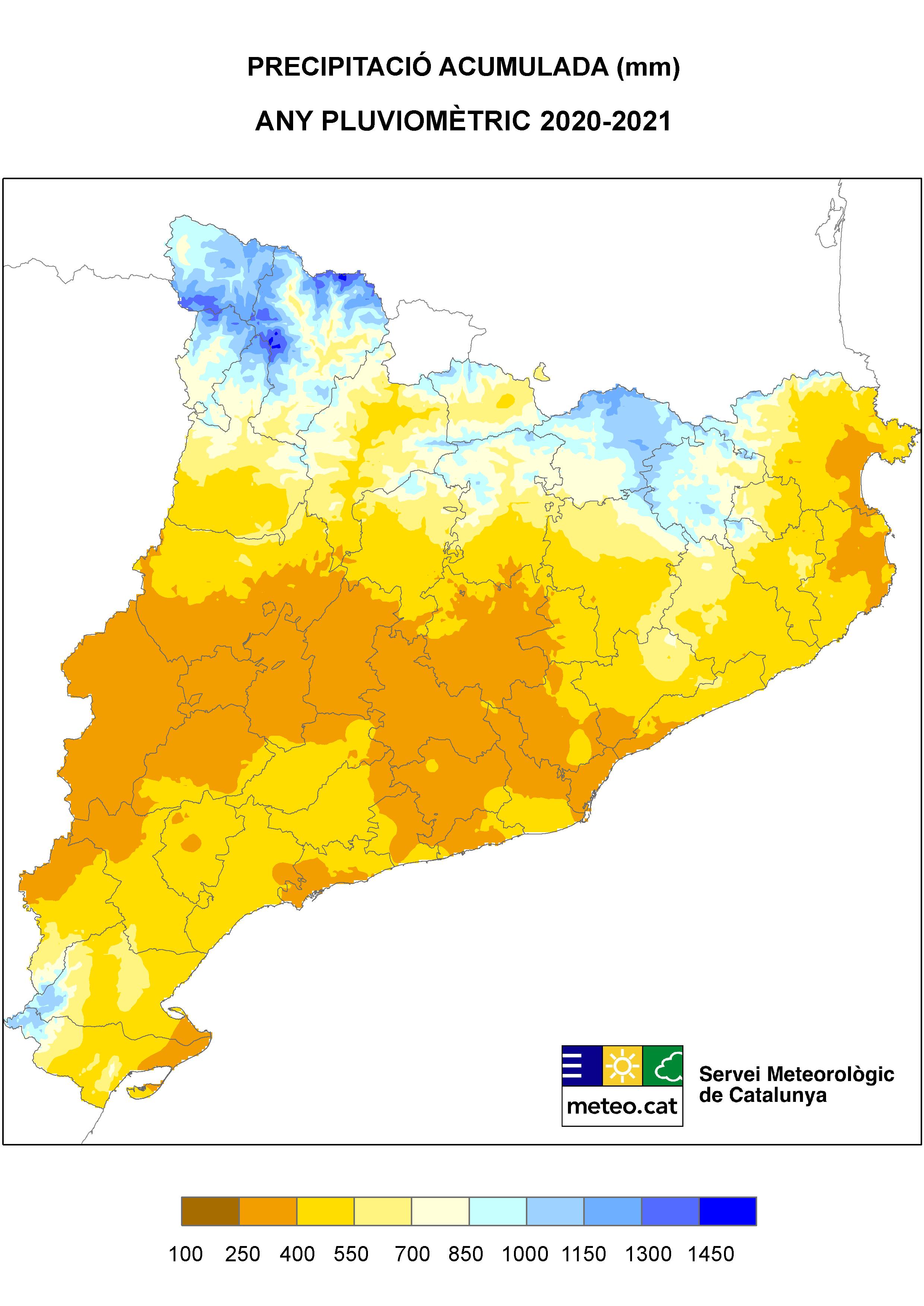 Mapa de precipitació acumulada