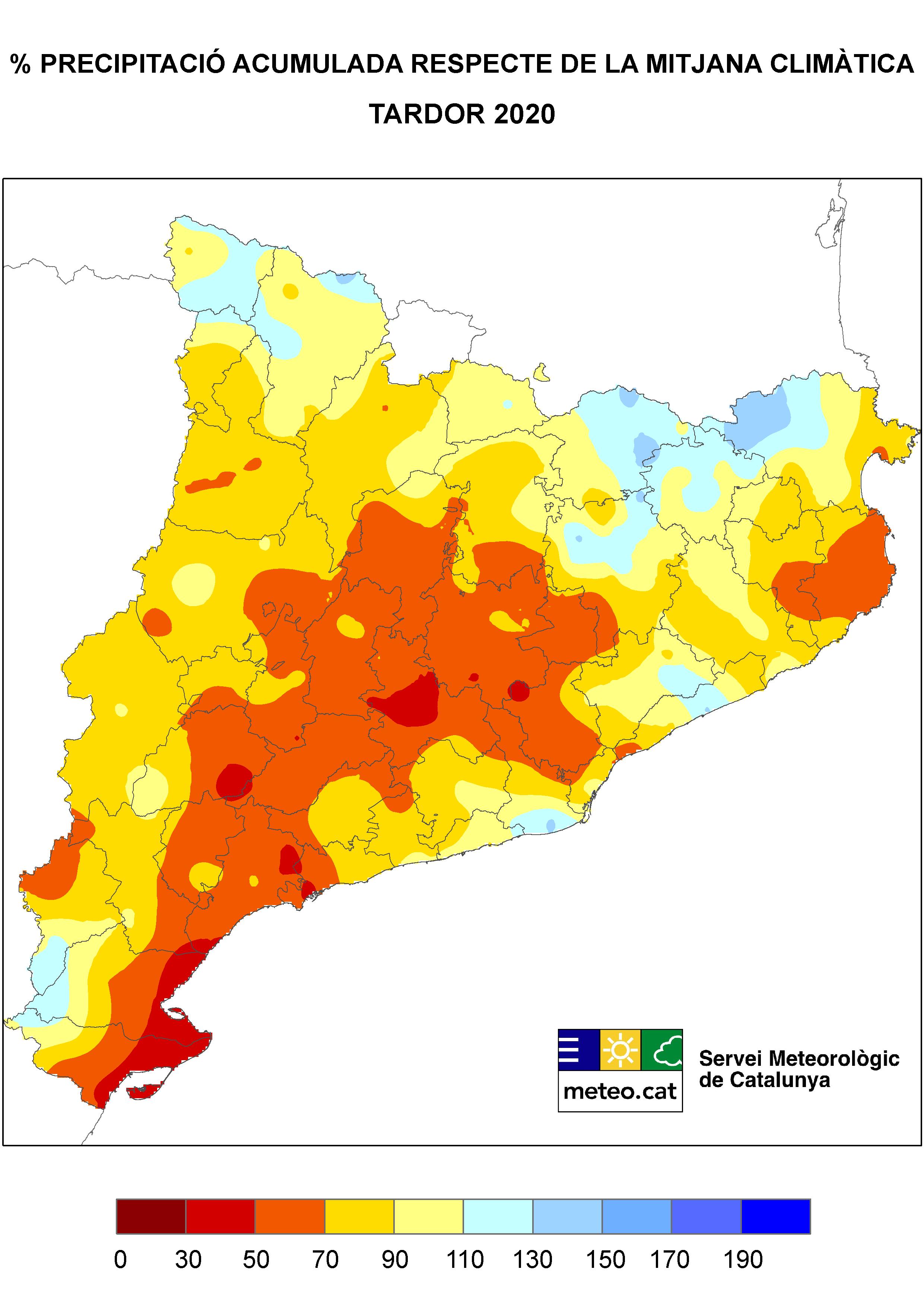 Mapa precipitació tardor
