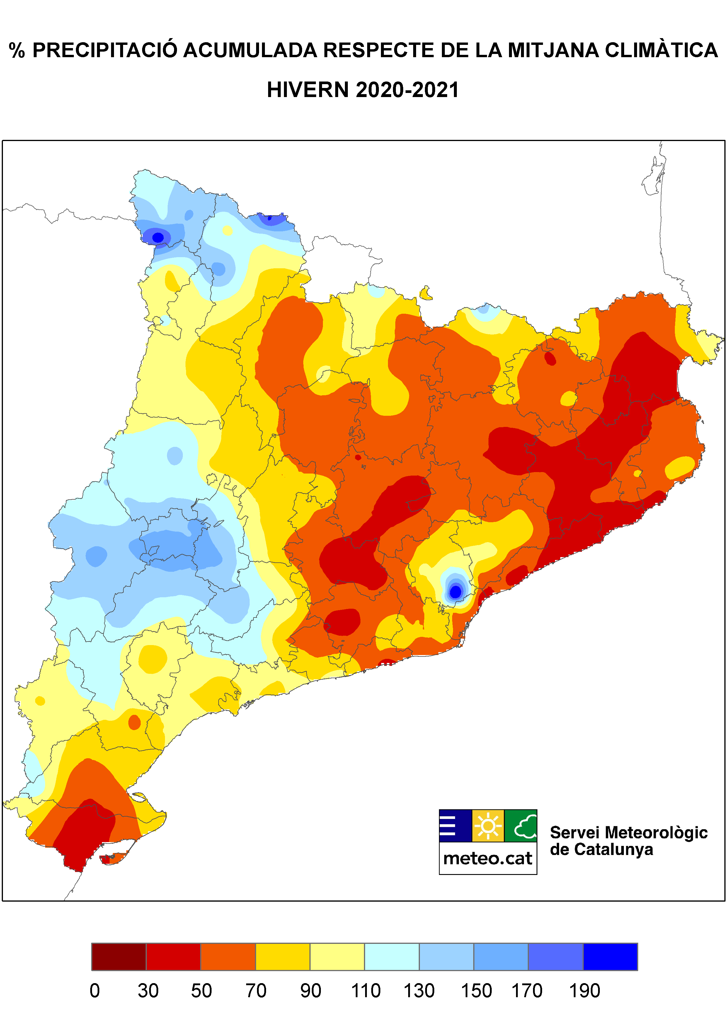 Mapa precipitació hivern