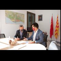 Reunió delegat i alcalde de Sant Climent