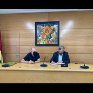 Visita del delegat a l'Ajuntament de Barberà del Vallès