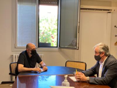 Ruenió del delegat amb l'alcalde de Barberà del Vallès