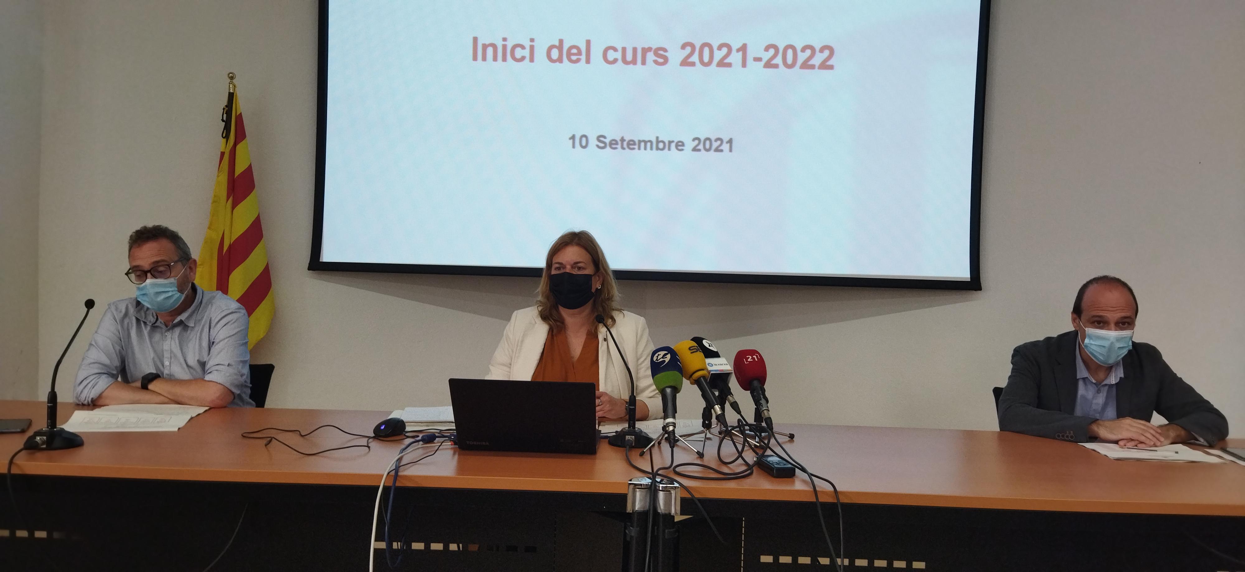 Presentació dades i novetats nou curs escolar 2021-2022 a les Terres de l'Ebre