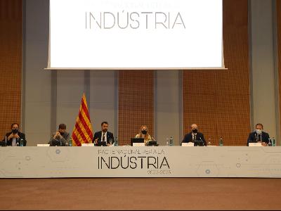 Fotografia de la Taula del Pacte Nacional per a la Indústria (Foto: Jordi Salinas)