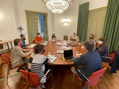 Imatge de la reunió tècnica sobre la biblioteca pública estatal a Barcelona