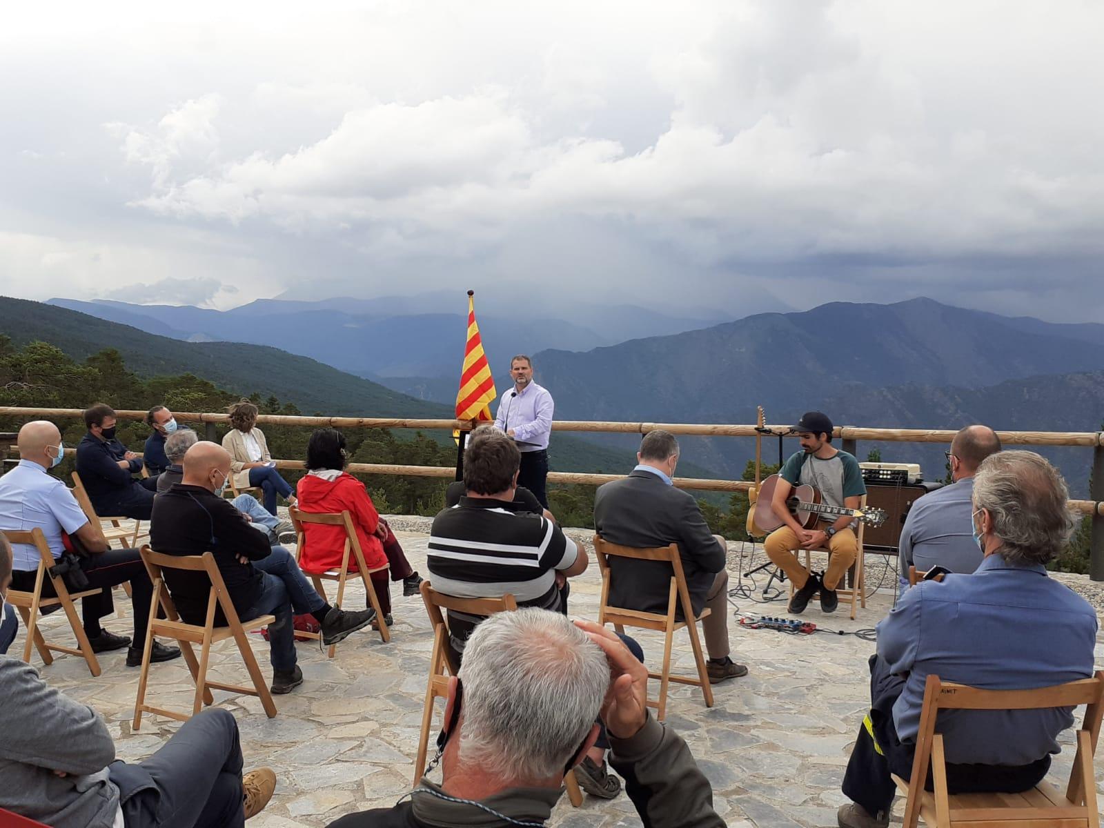 El delegat territorial del Govern a l'Alt Pirineu i Aran, Ricard Pérez, durant els parlaments institucionals