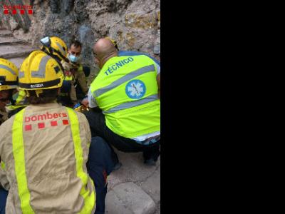 Rescat d'una dona a Monistrol de Montserrat