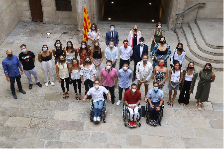 El president Aragonès ha rebut avui els esportistes catalans olímpics i paralímpics (foto: Ruben Moreno)