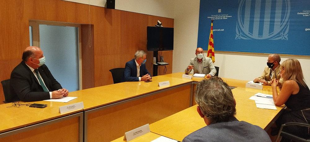 Trobada entre els representants de PIMEC i la Delegació del Govern a les Terres de l'Ebre
